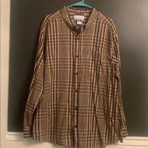 Columbia Mens Button Down Shirt Size XXL